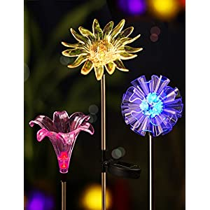 51xEbU4u6%2BL. SS300  - BRIGHT ZEAL LED Solar Garden Stake Lights with Vivid Life-Size Figurines - Color Changing Solar Lights Outdoor - Solar Garden Lights Patio & Garden Decor