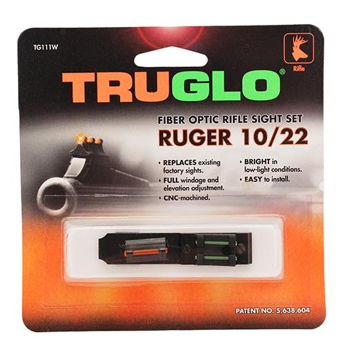Truglo Ruger 10/22 Fiber Optic Sight Set Red/Green