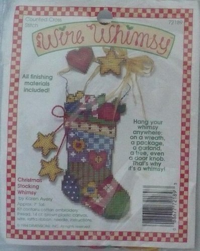 Dimensions Plastic Canvas Wire (Christmas Stocking Whimsy By Karen Avery - Counted Cross Stitch Kit - Wire Whimsy - #72189)