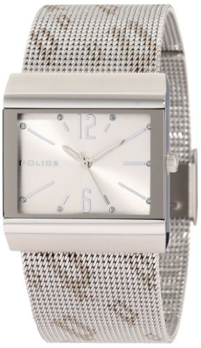 Police Women's PL-10813BS/04M Virtue Silver Dial Stainless-Steel Mesh Bracelet Watch