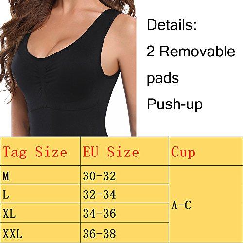 U-Pretty - Camiseta moldeadora - cuello en V - Sin mangas - para mujer Schwarz 1pcs
