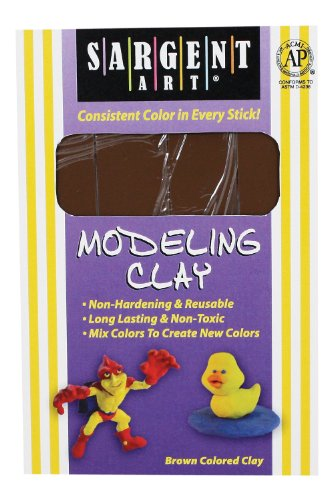 Nonhardening Clay, Brown ()
