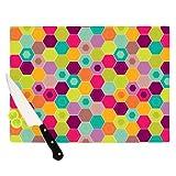 Kess InHouse Nicole Ketchum Cutting Board, 11.5 by 15.75-Inch, Arabian Bee