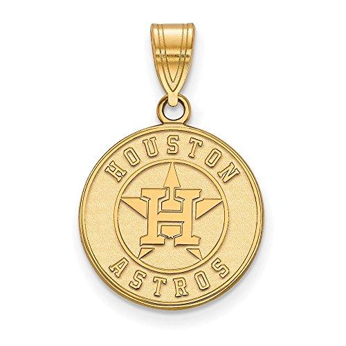 Q Gold MLB Houston Astros 10ky MLB LogoArt Houston Astros Medium Pendant Size One ()