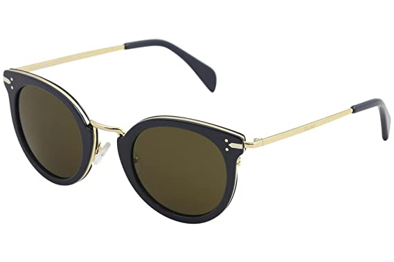 f1cca532f0139 Celine 41373 S HDE Petrol   Gold 41373 S Round Sunglasses Lens ...
