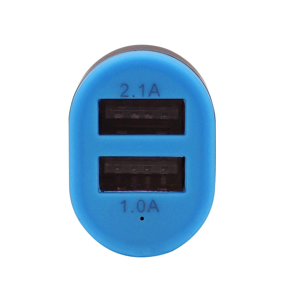 2-Port Car Charger Lighter Socket Splitter Charger Power Adapter for iPhone Android Phone (Blue)