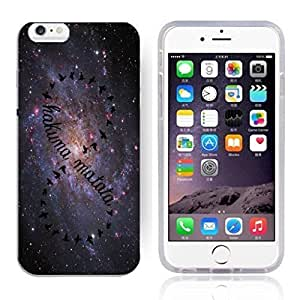 Africa Ancient Proverb HAKUNA MATATA Color Accelerating Universe Star Design Pattern HD Durable Hard Plastic Case Cover for iPhone 6 plus 5.5
