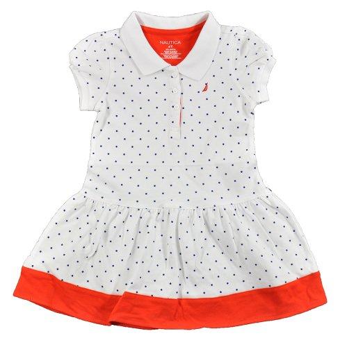 Nautica Little Girls' Polka Dot Pique Dress With Contrast Hem 2