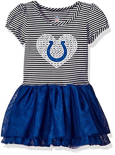 "NFL Infant""Celebration"" Sequin Tutu Dress-Black-12 Months, Indianapolis Colts"