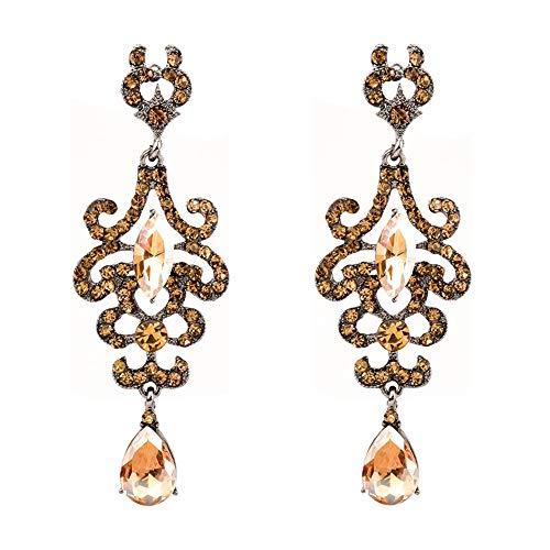 Yingbo-femmes Au Accessoires Accessoires Robe De Soirée Boucles D'oreilles En Cristal De Mode Femmes Chute Boucles D'oreille (champage)