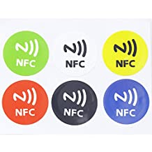 6 X Waterproof NFC Smart Tags Sticker Rfid Adhesive Label for MX3 Samsung