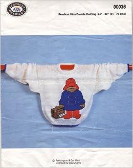 Readicut Childrens Paddington Bear Motif Sweater Knitting Pattern: To fi...
