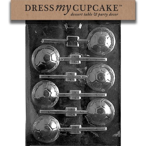 Dress My Cupcake DMCS019 Chocolate Candy Mold, Soccer Ball -