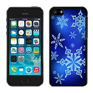 Iphone 5C Case, Crystal clear snowflakes Flying in the sky Iphone 5C Case - Black Frame Ultra Fit Hard Case Shock-Absorption Bumper with Anti-Scratch Hard Case for Iphone 5C
