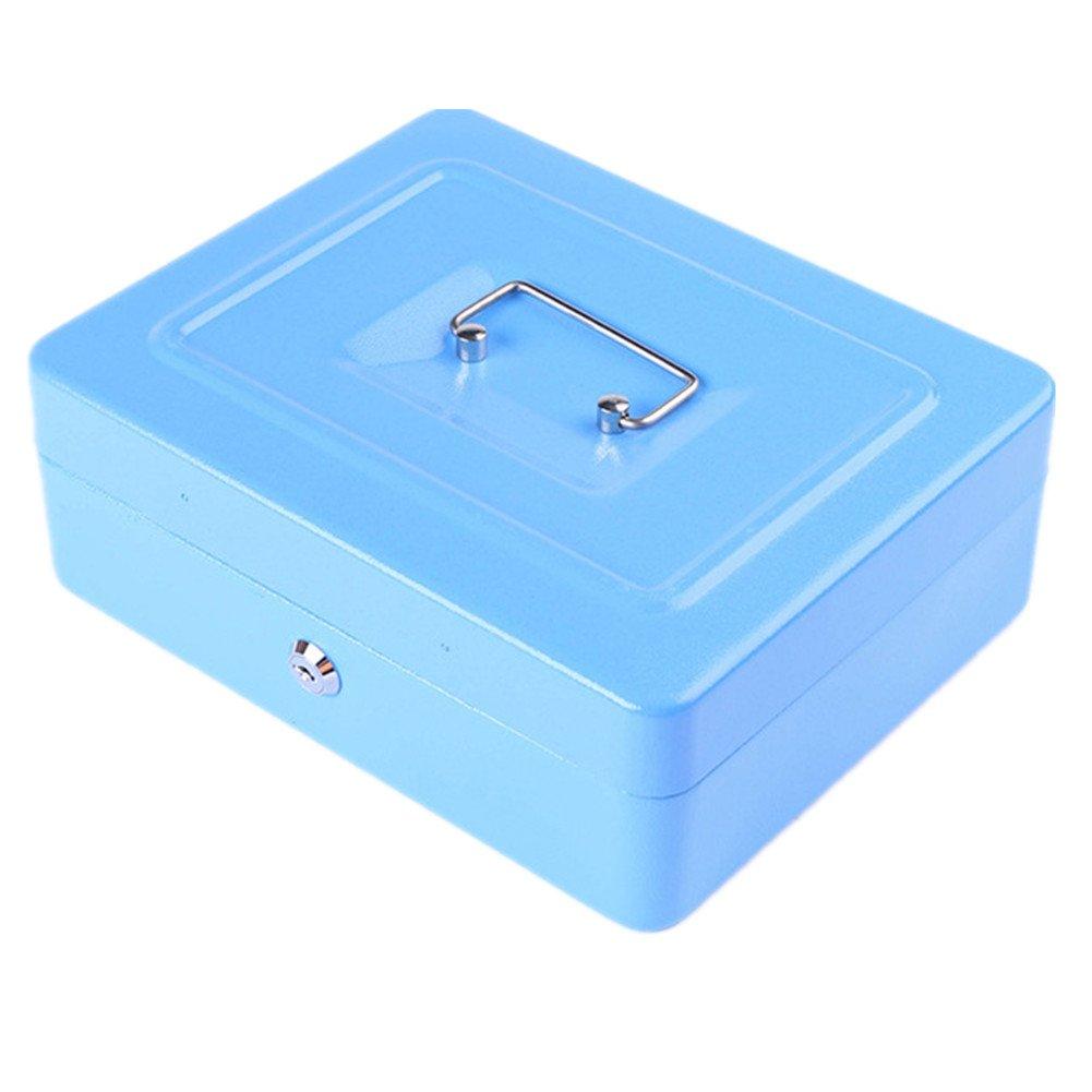 Petite Caisse fer Safe Box Plateau avec compartiment pour monnaie Monnaie Vé rifications de factures, rose xingbailong