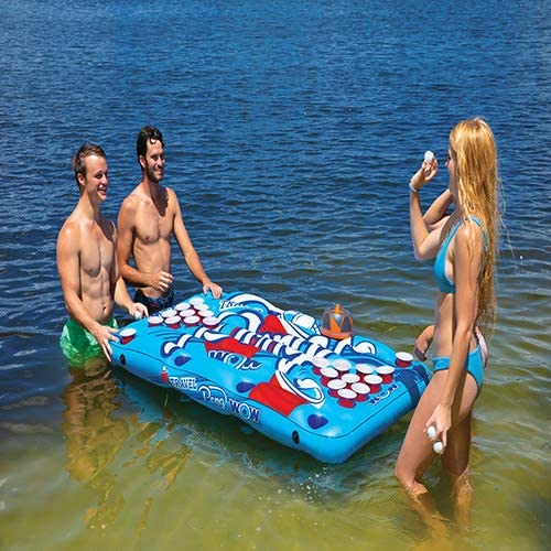 Portabe Inflatable Beer Pong Tables Floating Wow World of Watersports Heavy Duty