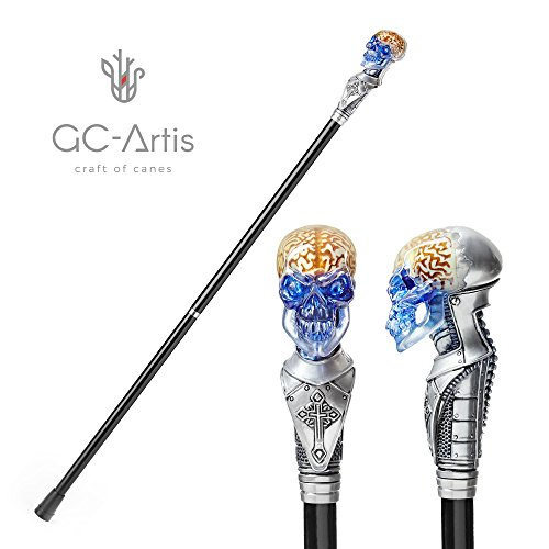 GC-Artis Walking Stick Cane by with a Crystal Glow, Solid Ash Wood - (Into The Woods Costume Ideas)
