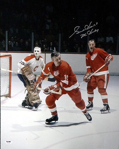 Gordie Howe Signed 16 x 20 Photograph Detroit Red Wings M...