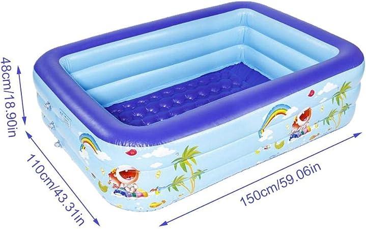 Piscina hinchable del centro de natación más de 3 años, 200 145 50 cm 150 x 110 x 48: Amazon.es: Hogar