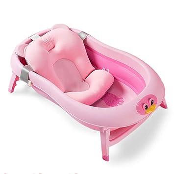 Amazon.com: Tubos de baño plegables para bebé, con cojín de ...