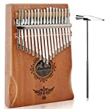 LuTecYa Kalimba Thumb Piano 17 Keys Easy-to-play Finger Piano Mbira Solid Mahogany Wood - Calibrating Tune Hammer and Storage Bag