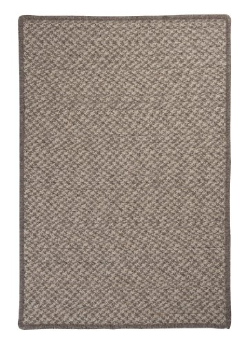 Natural Wool Houndstooth Sample Swatch Rug, Latte