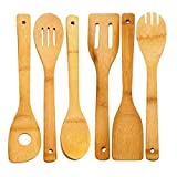 Bamboo Kitchen Utensils, Tools (Pack of 12)