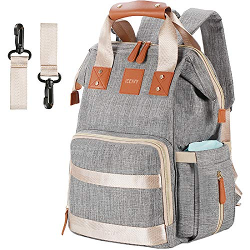 Backpack Diaper Bag Backpack, Baby Bag Baby Diaper Bag,Multi-Function Waterproof for Girl,Boy,Men,Mom,Dad, Large Capacity, Stylish,Durable,Gray