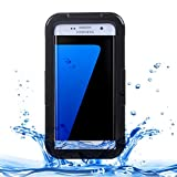 Galaxy S7 Waterproof Case, Fone-Stuff® - Slim, iPX8 Rated Protective Dustproof Full Body Cover – Black