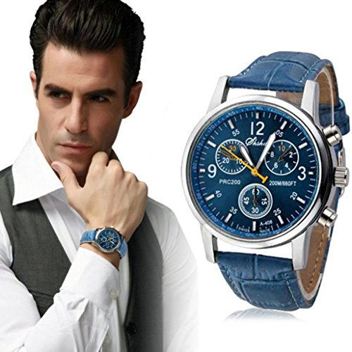 Beautyvan,New Luxury Fashion Crocodile Faux Leather Mens Analog Watch Watches - Cheap Fashion Men