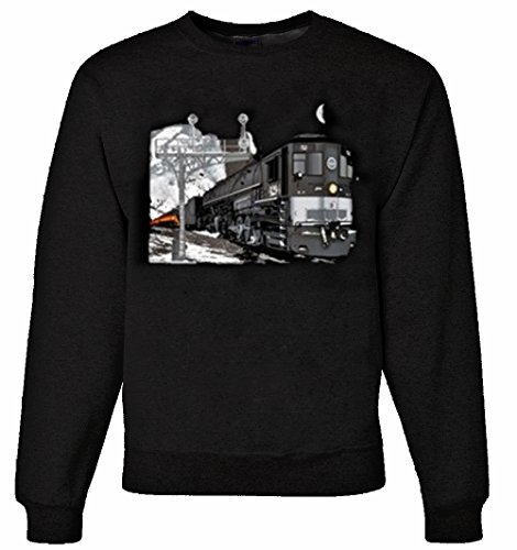 Southern Pacific Cab Forward Doubleheader Authentic Railroad Sweatshirt Adult Small [52] (Southern Pacific Cab)
