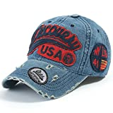 ililily Discovery USA Distressed Vintage Baseball Cap Snapback Trucker Hat