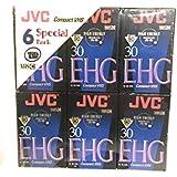 JVC EHG VHS C Hi Fi TC 30 - 6 pack