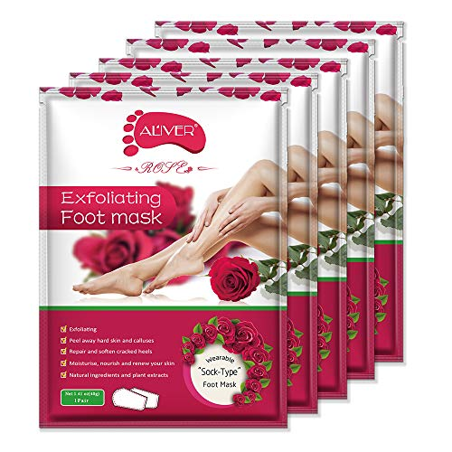 Foot Peel Mask - (5 Pack) Peeling Away Calluses and Dead Skin Cells - Exfoliating Foot Mask, Baby Soft Smooth Touch Feet-Men Women