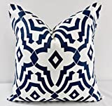 Blue & white Chevelle Pillow cover. Sham cover. throw Pillow cover. Select size.