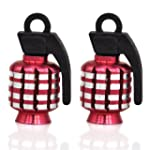 TRIXES Red Pair of Hand Grenade Alloy...
