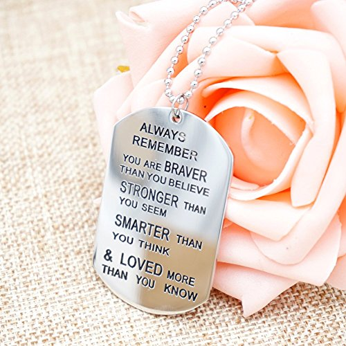 O.RIYA You Are Braver Than You Believe Necklaces / Keyring (White)