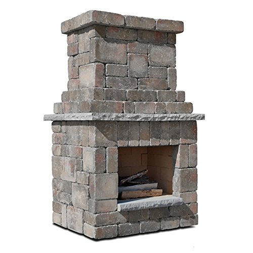 Necessories Colonial Outdoor Fireplace in Desert (Outdoor Stone Fireplace)