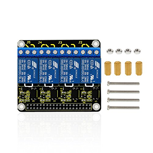 Keyestudio 5V DCAC 4-Channel Relay Shield Module Expansion Board for Raspberry Pi 3