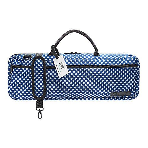 Beaumont B-Foot Flute Bag Case Cover - Blue Polka Dot