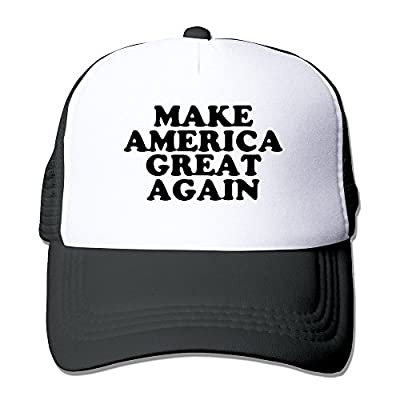Jade Adjustable Mesh Caps Make America Great Again Sporting Visor Cap Black