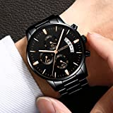 Mens Watches Sports Luxury Chronograph Waterproof Military Quartz Wristwatches For Men Rose Gold