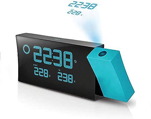 OOFAYWFD Despertador proyector Reloj proyector para el Dormitorio ...