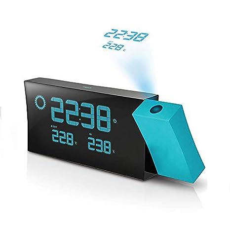 OOFAYWFD Despertador proyector Reloj proyector para el Dormitorio, Techo, Cocina, Escritorio, Estante