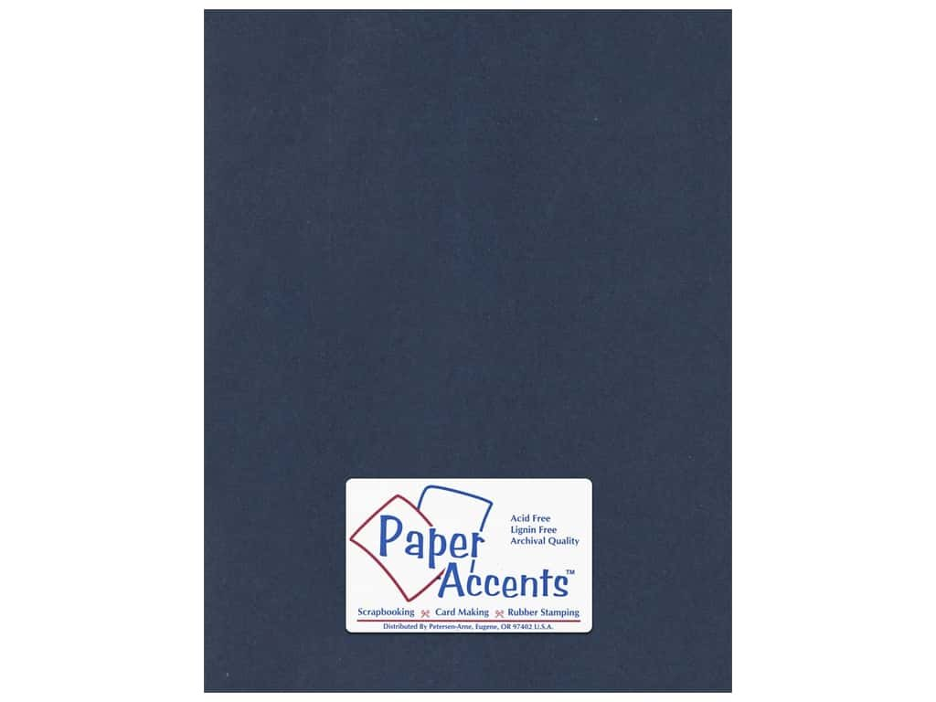 Paper Accents Cardstock 8.5x11 Smooth Navy Blue- 65lb 25 Pack by Paper Accents