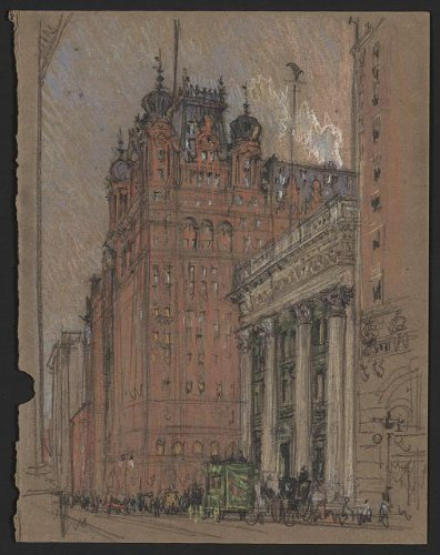 Photo: Waldorf Astoria Hotel, Fifth Avenue, New York City, NYC, Joseph Pennell, c1905 . Size: 8x10 - On 5th Avenue Stores Nyc
