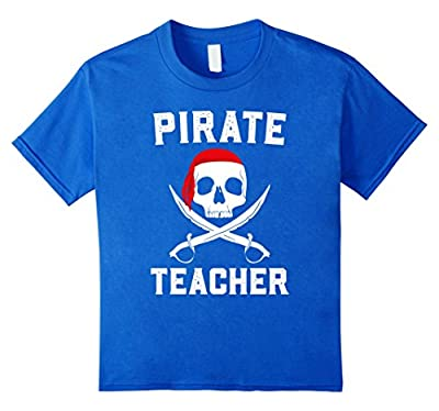 Pirate Teacher Funny Halloween T-Shirt Skull Adult Gift