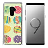Luxlady Clear Case for Samsung Galaxy S9 Plus Soft TPU Rubber Silicone Set of Easter Eggs Image ID 26111852