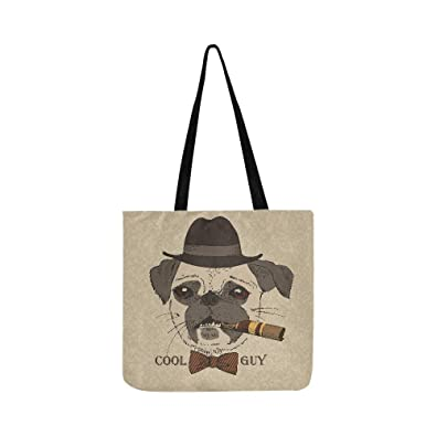 Amazon.com: Bolso de tela para perro, diseño de guy gangster ...