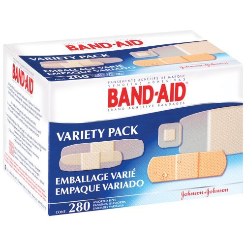 Johnson & Johnson Assorted Band-Aid® Sheer And Wet Flex Adhesive Bandage Pack (280 Per Box)